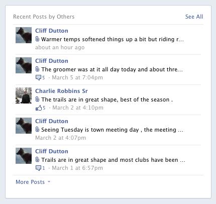 Screenshot of Post on Facebook