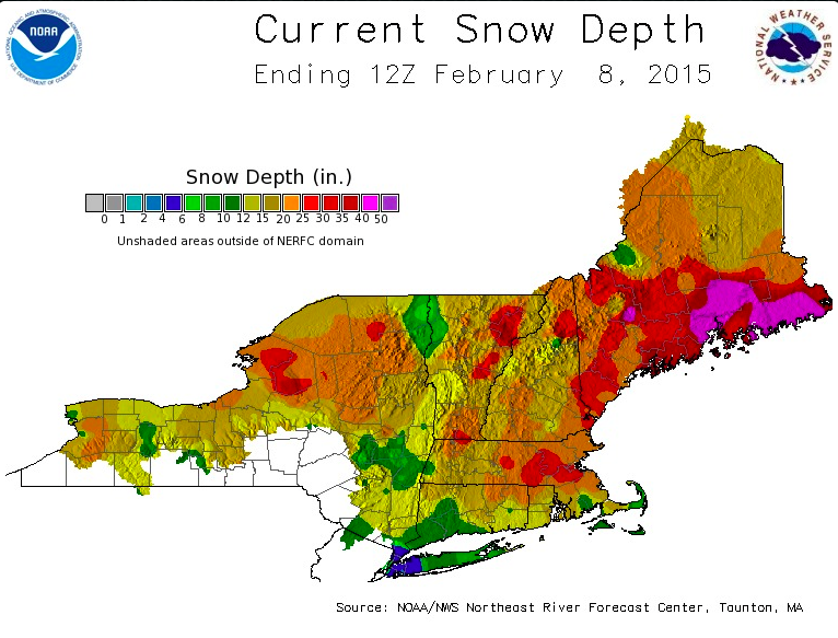 National Weather Service Snow Depth